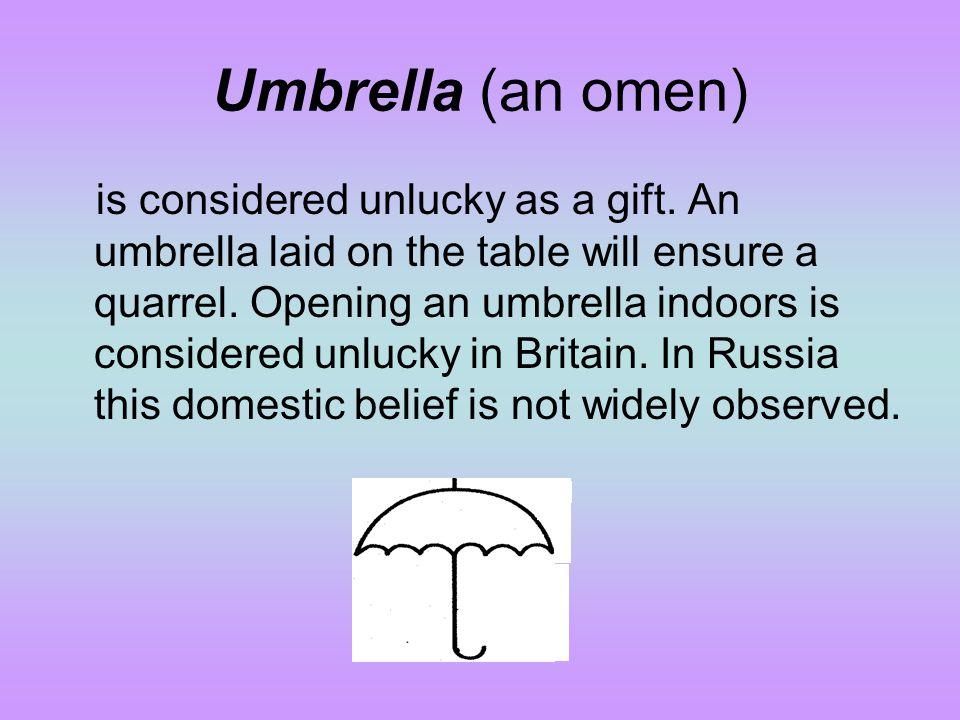 Umbrella (an omen)
