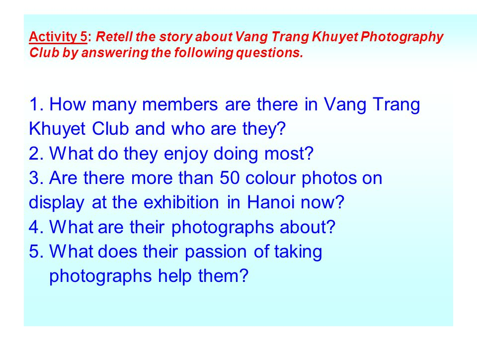1. How many members are there in Vang Trang