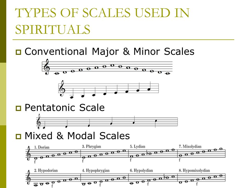 TYPES OF SCALES USED IN SPIRITUALS
