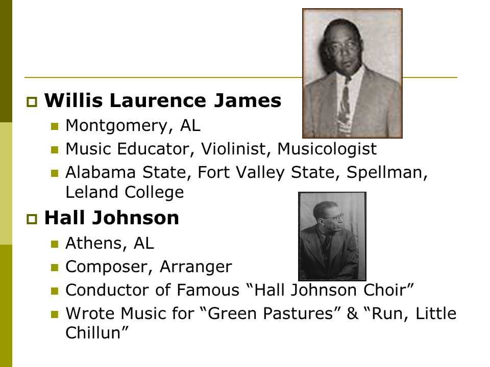 Willis Laurence James Hall Johnson Montgomery, AL