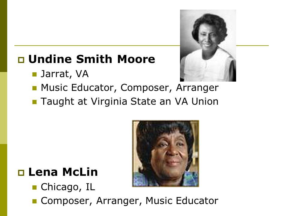 Undine Smith Moore Lena McLin Jarrat, VA