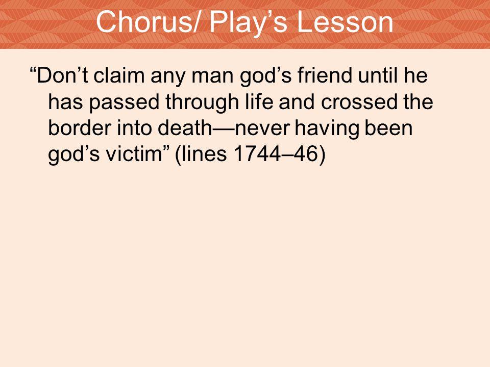 Chorus/ Play's Lesson