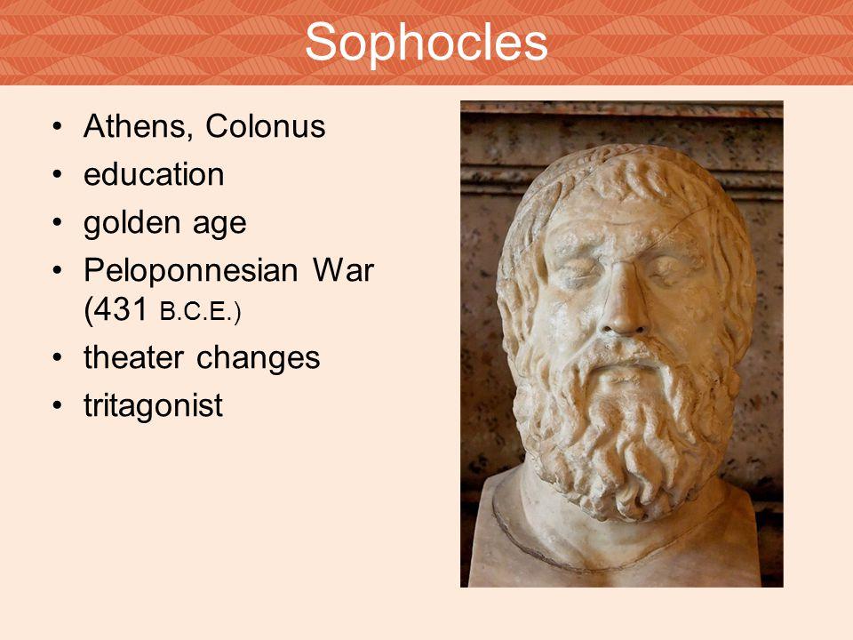 Sophocles Athens, Colonus education golden age