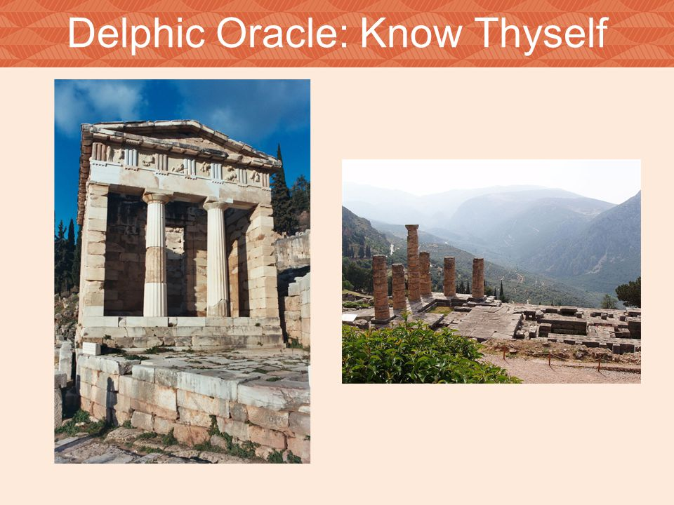 Delphic Oracle: Know Thyself