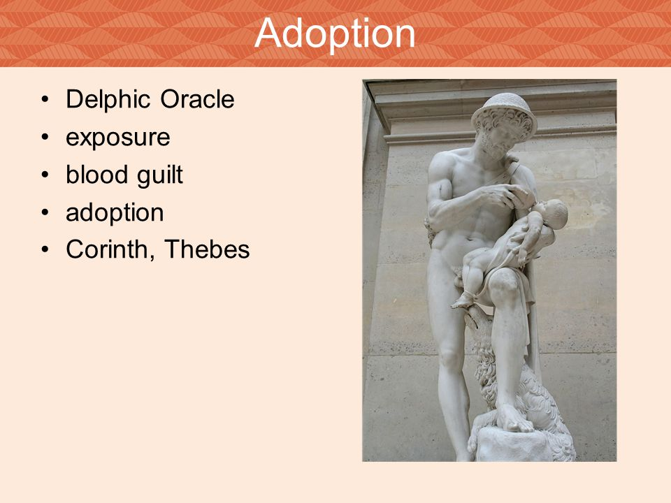 Adoption Delphic Oracle exposure blood guilt adoption Corinth, Thebes