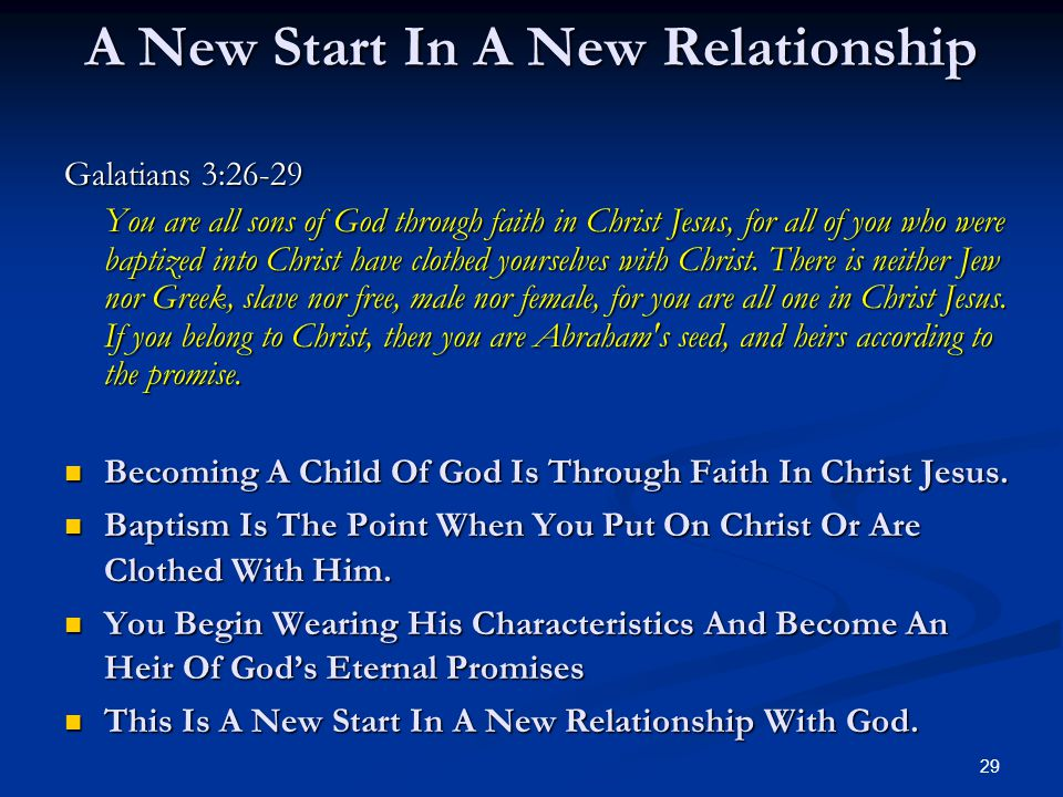 A New Start In A New Relationship