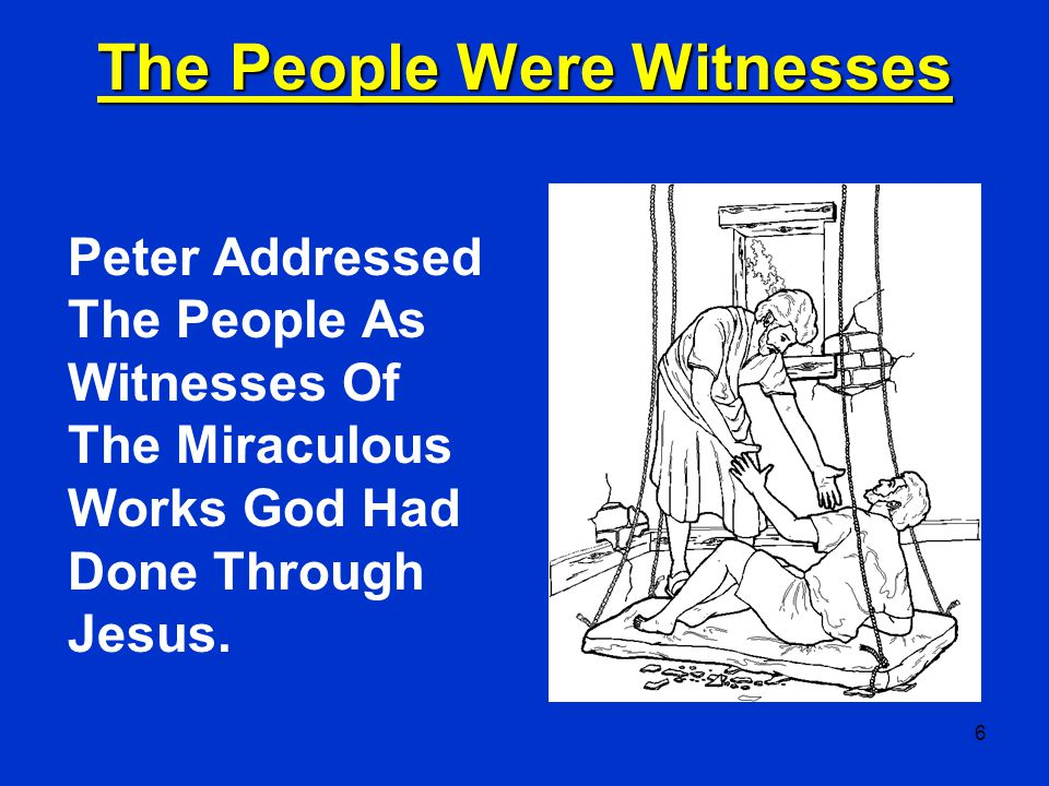 The People Were Witnesses
