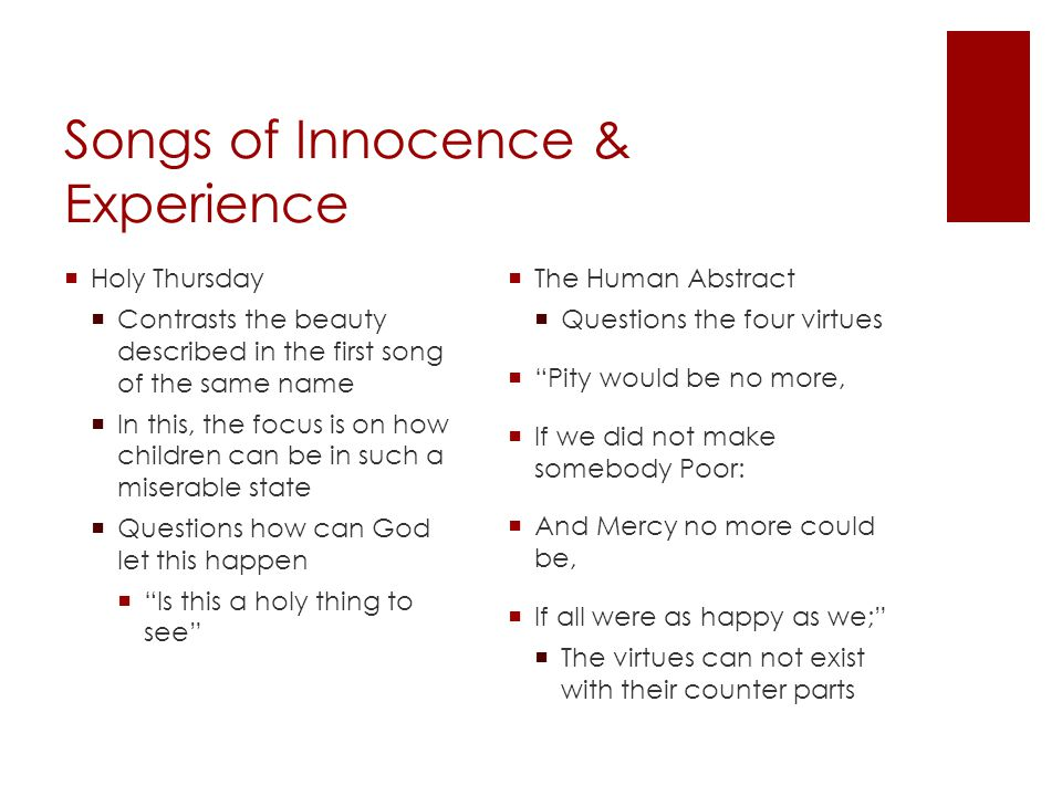 Songs of Innocence & Experience