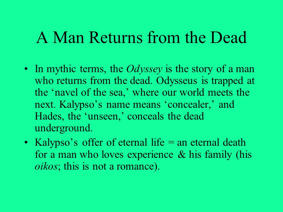 A Man Returns from the Dead