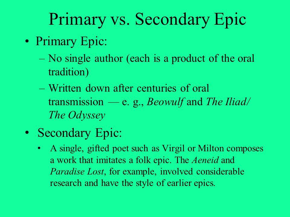 Primary vs. Secondary Epic