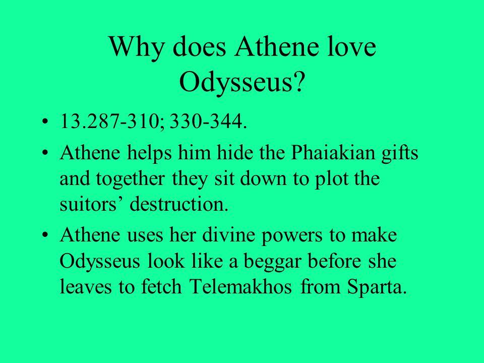 Why does Athene love Odysseus