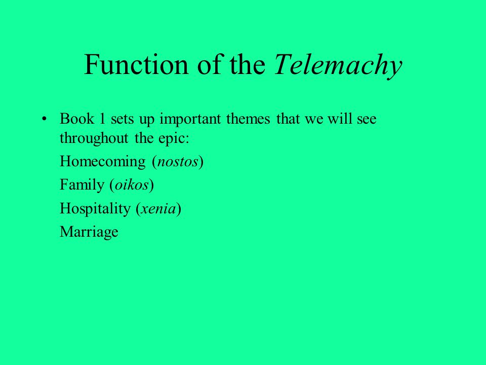 Function of the Telemachy