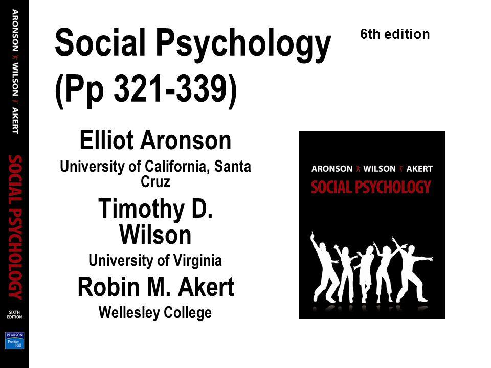 Social Psychology (Pp 321-339)
