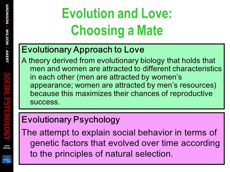 Evolution and Love: Choosing a Mate