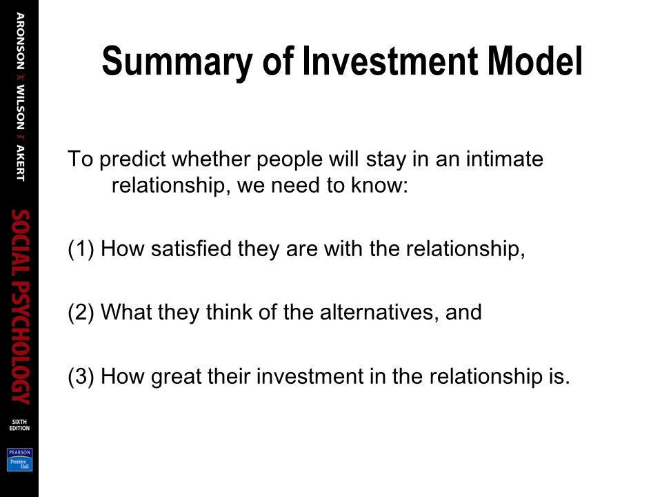 Summary of Investment Model