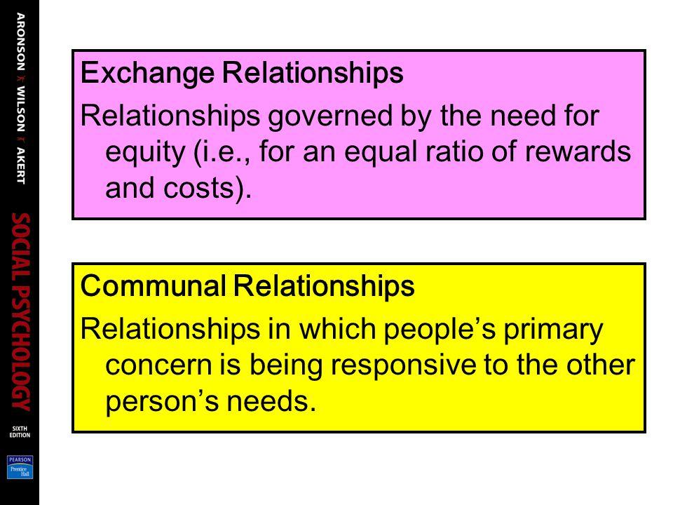 Exchange & Communal Relationships