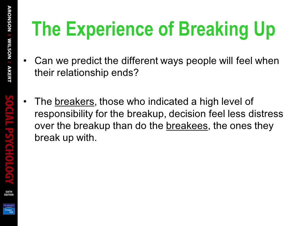 The Experience of Breaking Up
