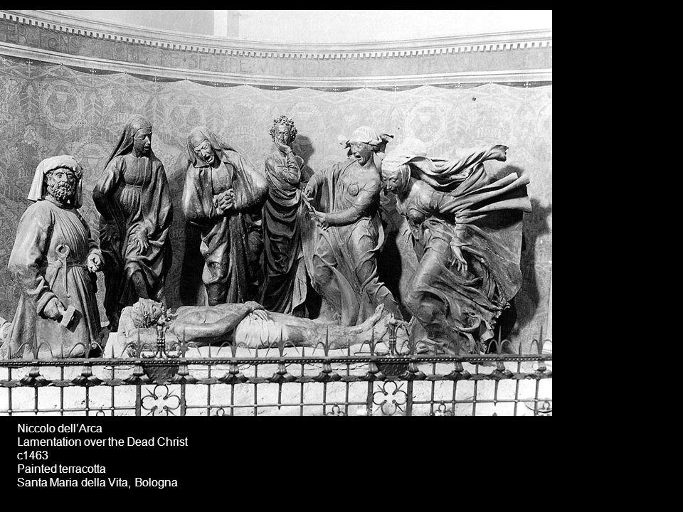 Niccolo dell'Arca Lamentation over the Dead Christ.