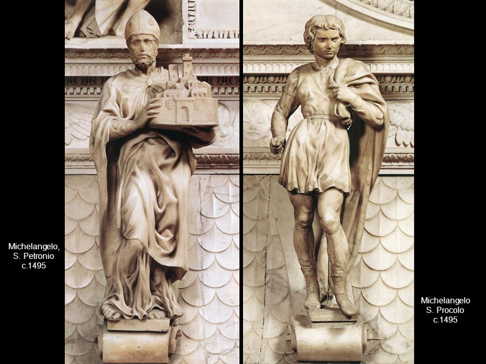 Michelangelo, S. Petronio c.1495 Michelangelo S. Procolo c.1495