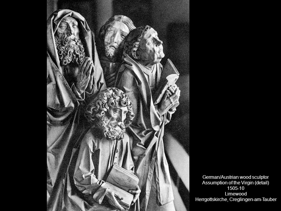 German/Austrian wood sculptor Assumption of the Virgin (detail) 1505-10 Limewood Herrgottskirche, Creglingen-am-Tauber
