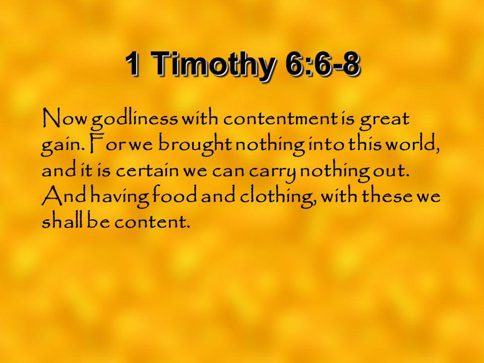1 Timothy 6:6-8