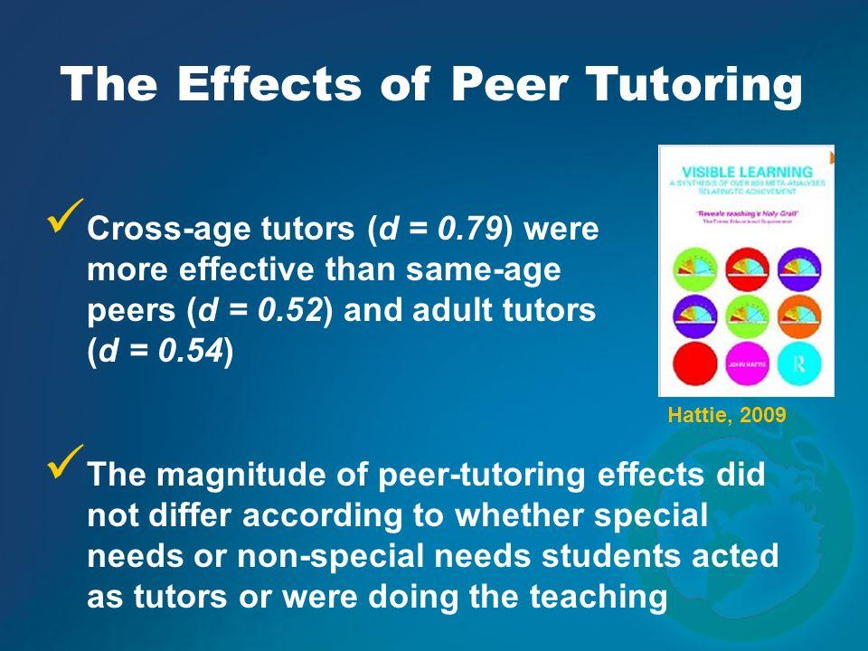 The Effects of Peer Tutoring