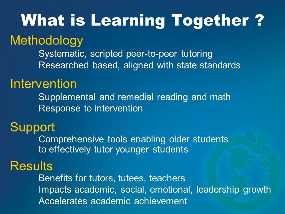 What is Learning Together