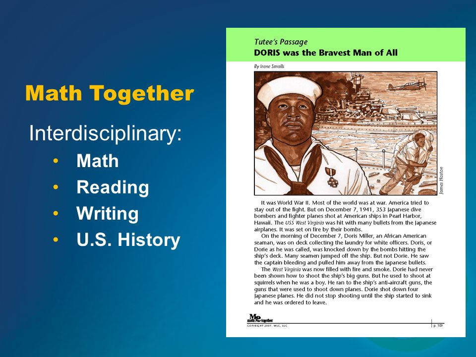 Math Together Interdisciplinary: Math Reading Writing U.S. History