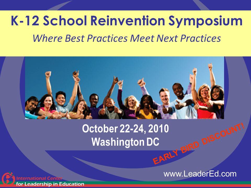 October 22-24, 2010 Washington DC
