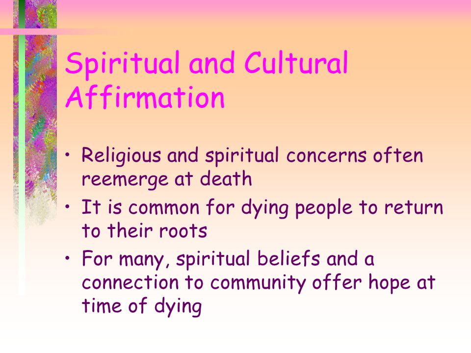 Spiritual and Cultural Affirmation