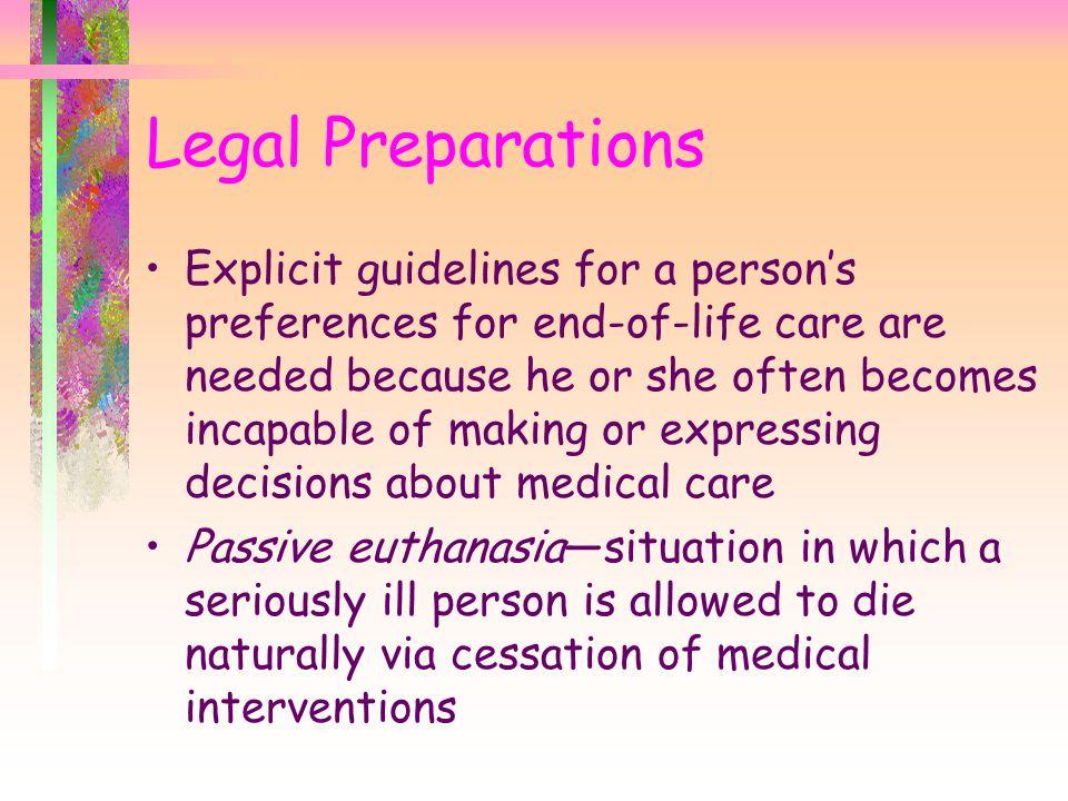 Legal Preparations