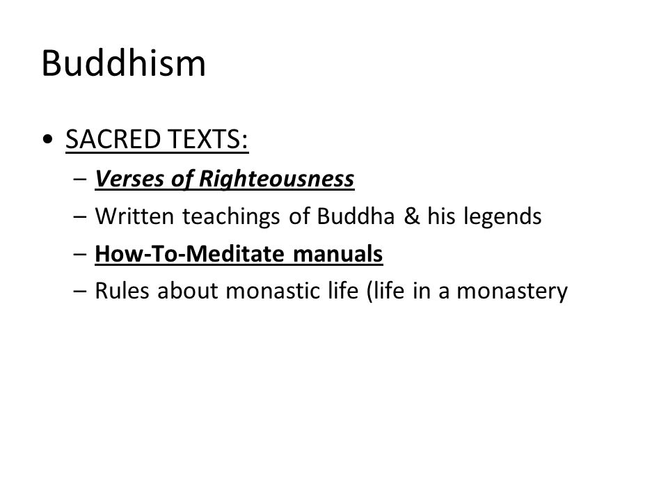Buddhism SACRED TEXTS: Verses of Righteousness