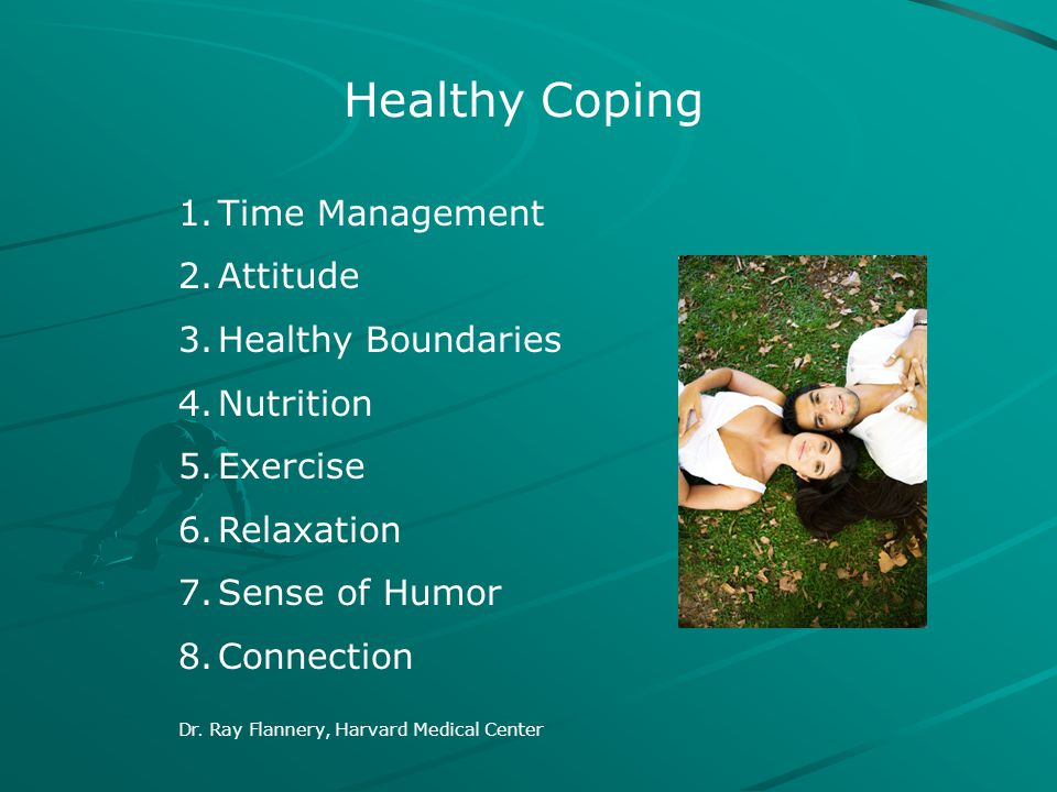Healthy Coping Time Management Attitude Healthy Boundaries Nutrition