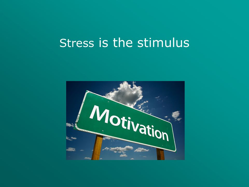 Stress is the stimulus