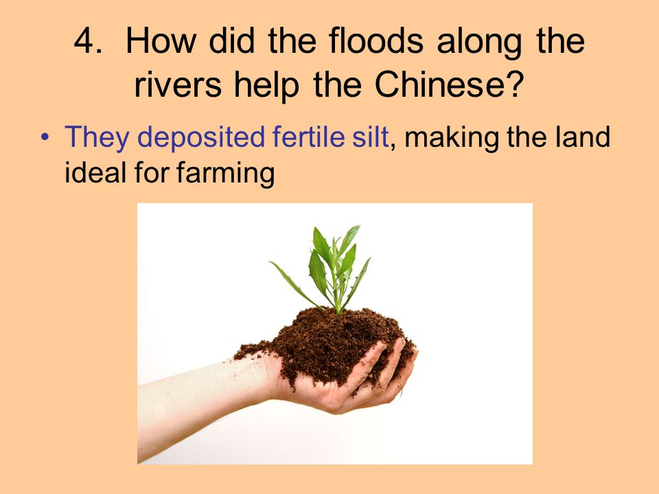 4. How did the floods along the rivers help the Chinese