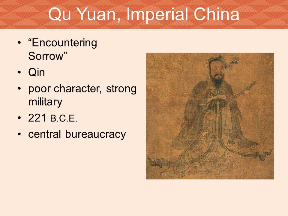 Qu Yuan, Imperial China Encountering Sorrow Qin