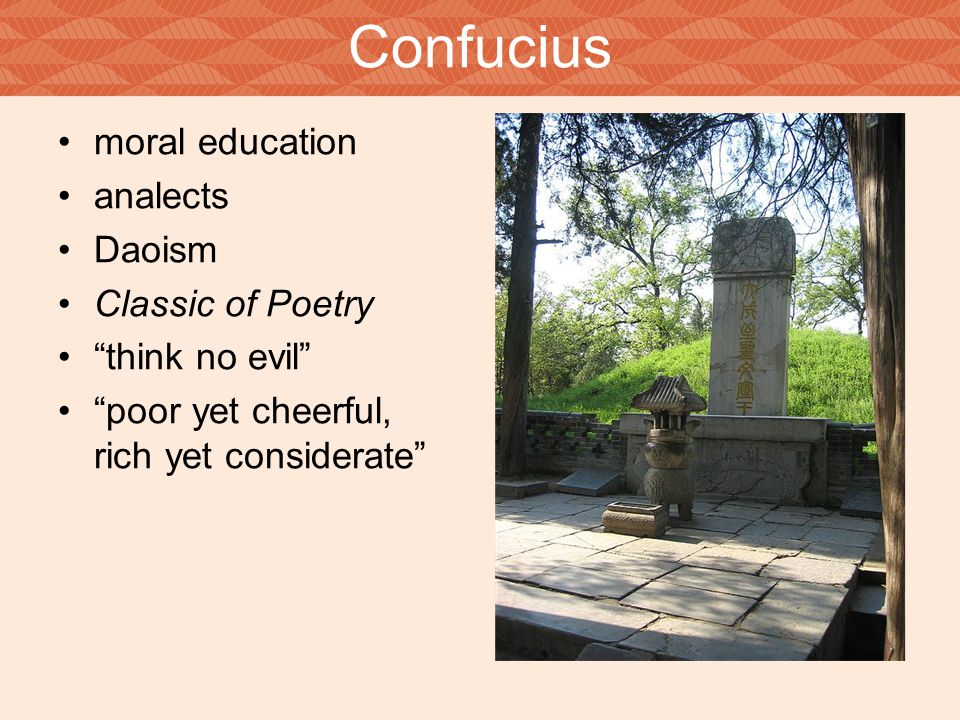 Confucius moral education analects Daoism Classic of Poetry