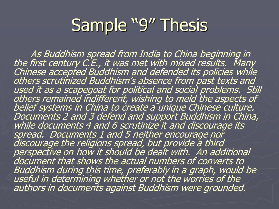 Sample 9 Thesis