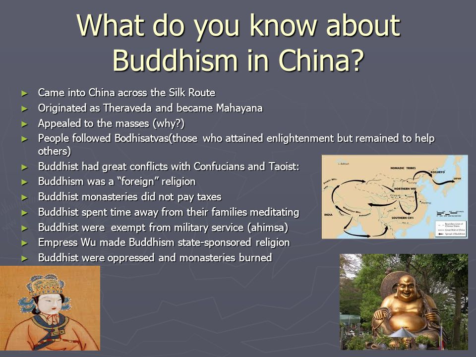What do you know about Buddhism in China