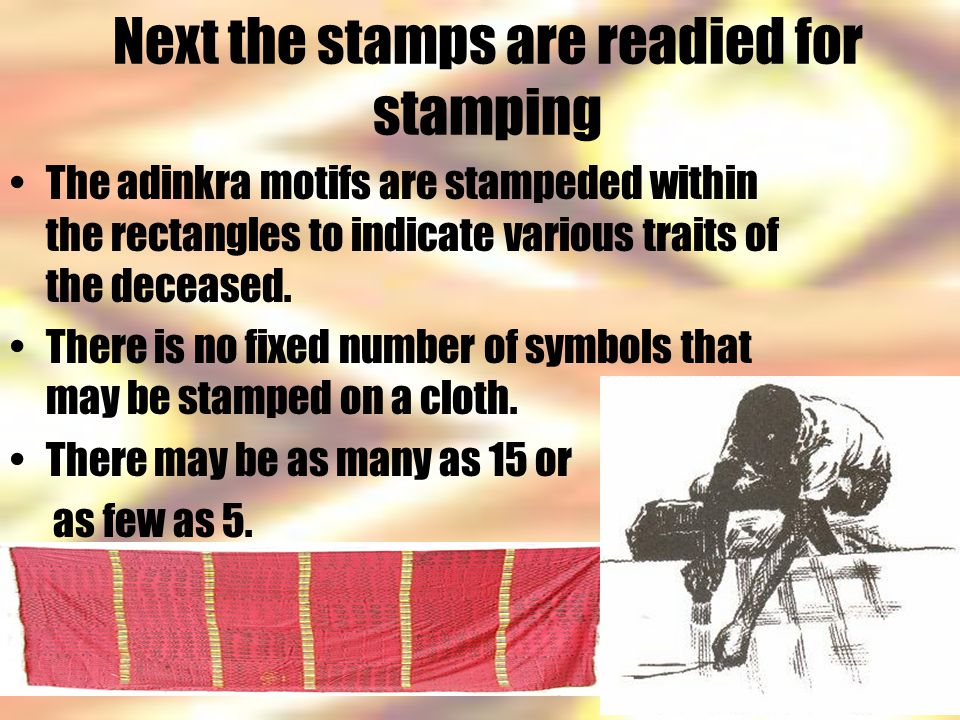 Next the stamps are readied for stamping