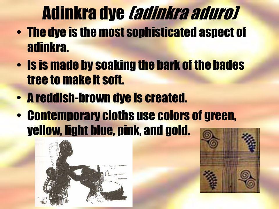 Adinkra dye (adinkra aduro)