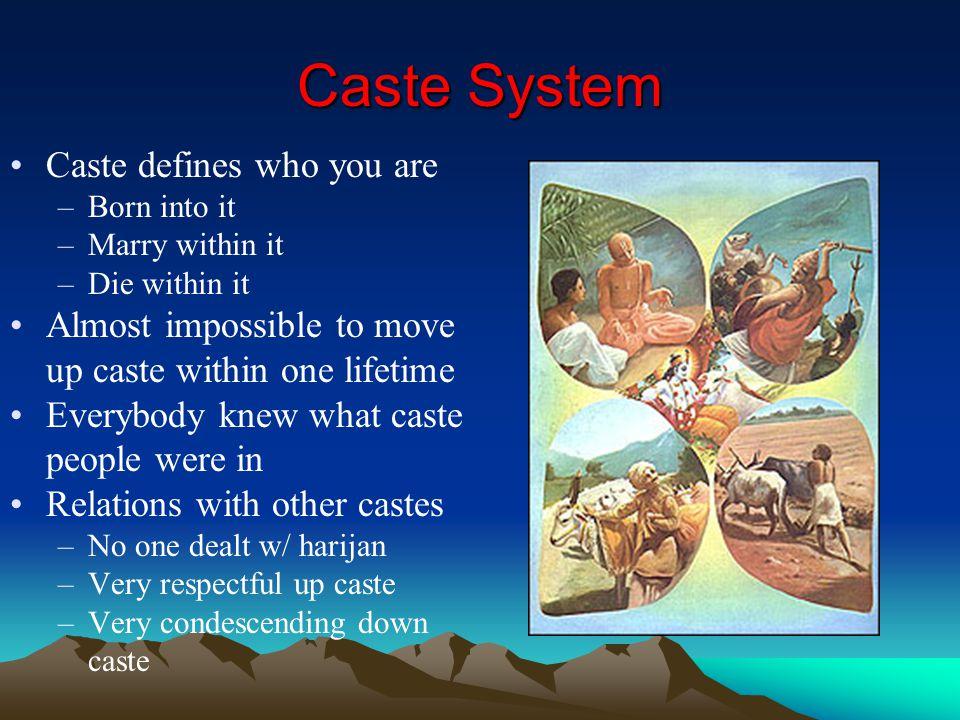 Caste System Caste defines who you are