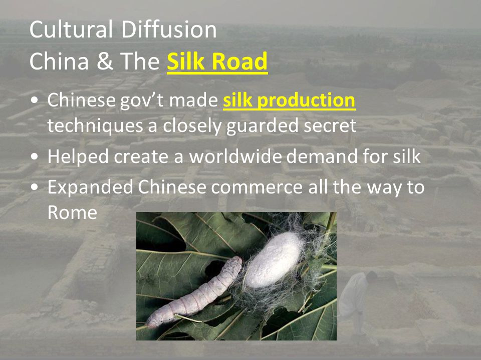 Cultural Diffusion China & The Silk Road