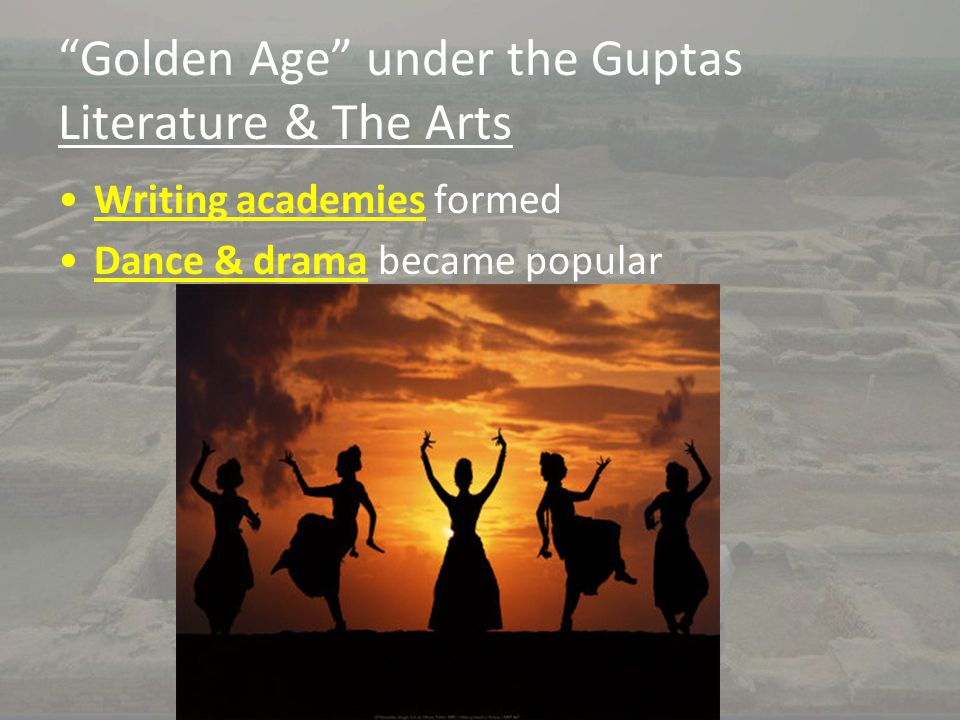 Golden Age under the Guptas Literature & The Arts