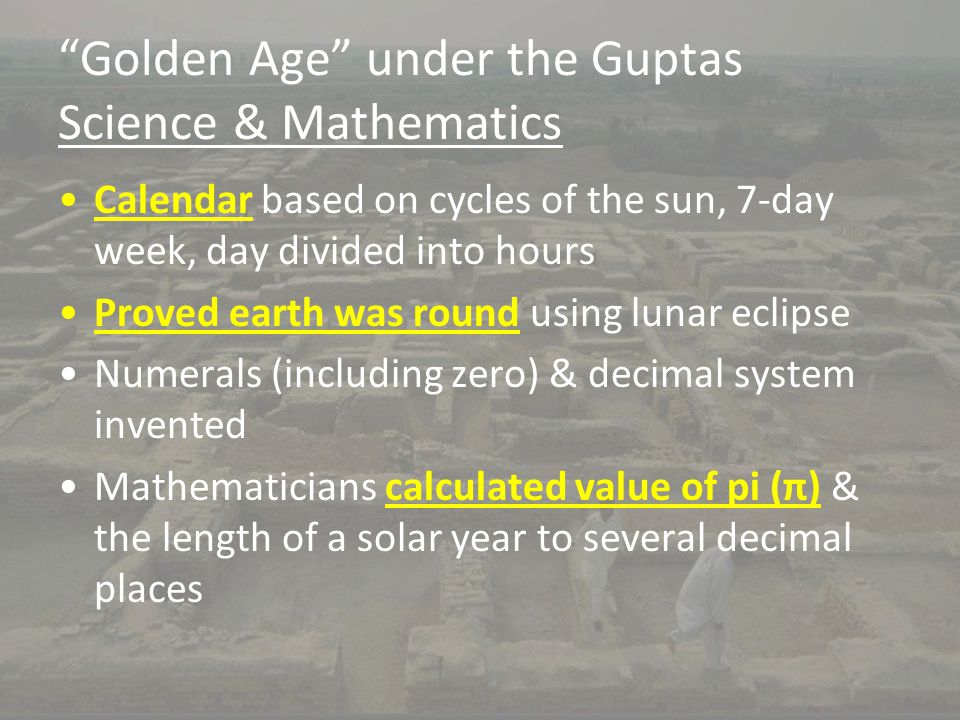 Golden Age under the Guptas Science & Mathematics