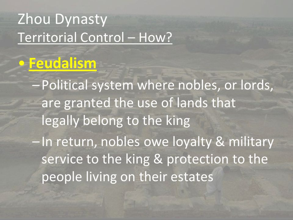 Zhou Dynasty Territorial Control – How