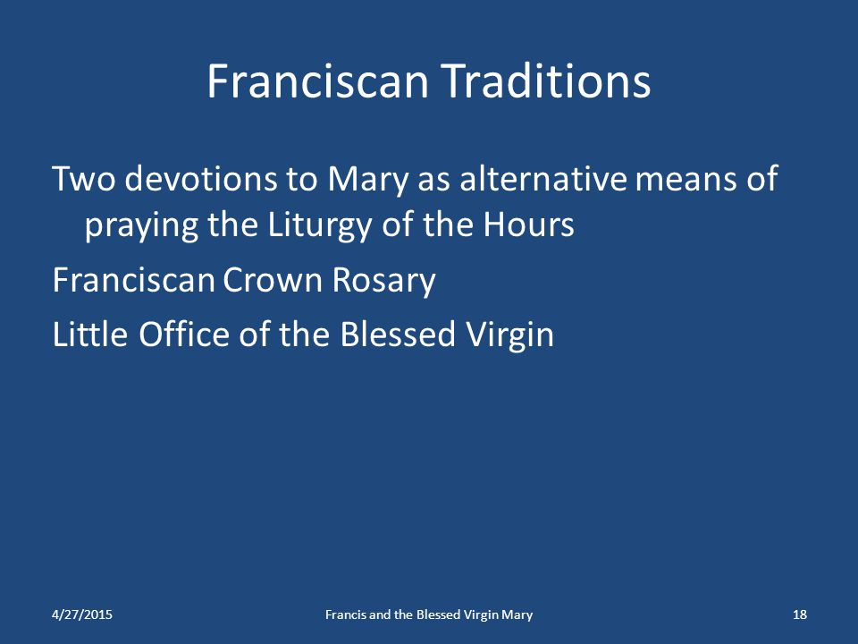 Franciscan Traditions