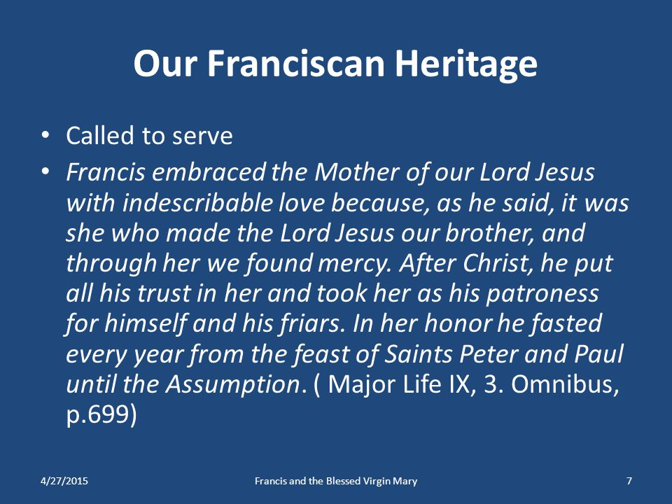 Our Franciscan Heritage