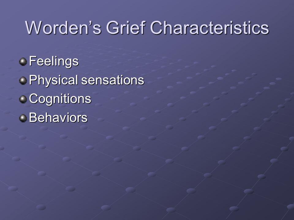 Worden's Grief Characteristics