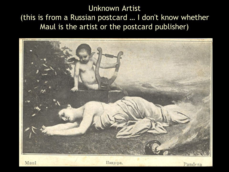 Unknown Artist (this is from a Russian postcard … I don t know whether Maul is the artist or the postcard publisher)